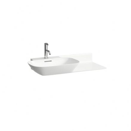 813302 - Laufen Ino 900mm x 450mm Washbasin (Right Shelf) - 8.1330.2